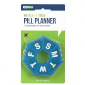 Ezy Dose Round 7 Day, 7 Sided Pill/Medication Reminder/Planner